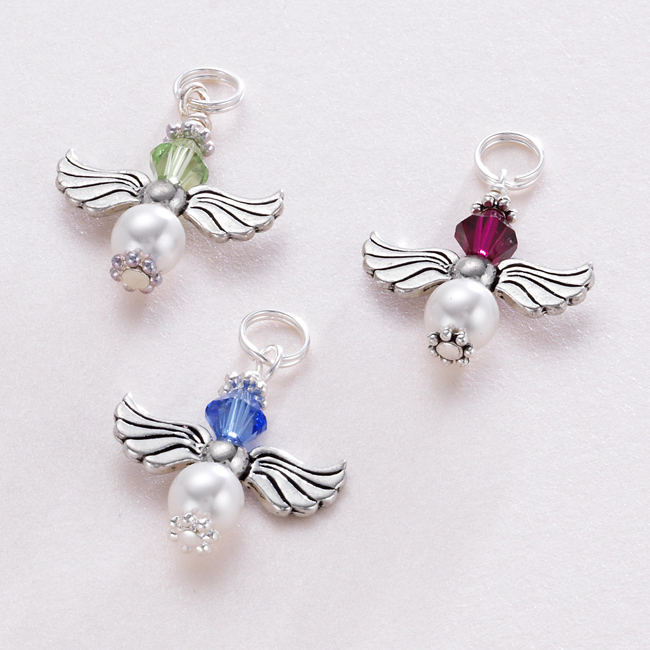 Birthstone Guardian Angel Charm Someone Remembered
