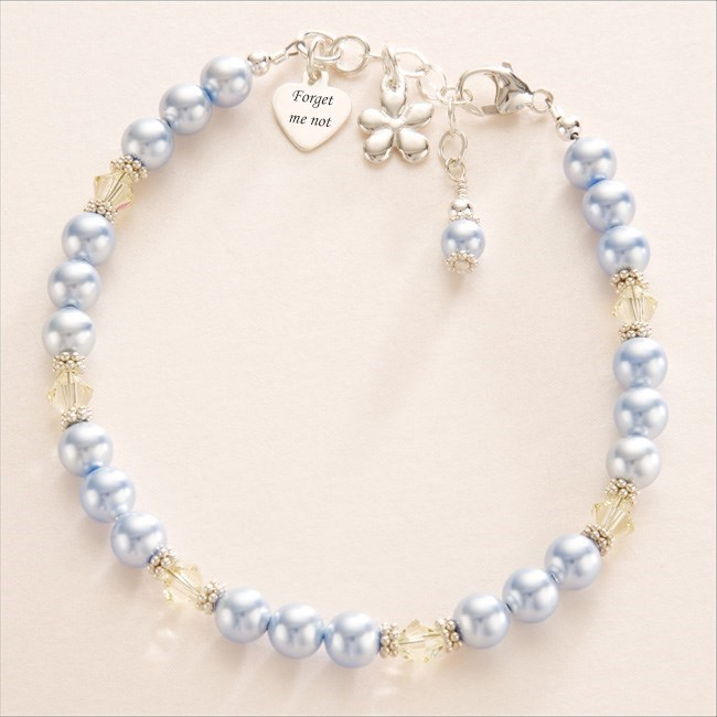 forget me not remembrance bracelet someone remembered