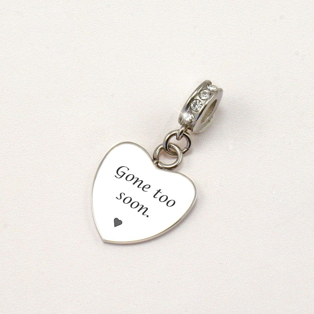 soon engraved memorial charm someone remembered