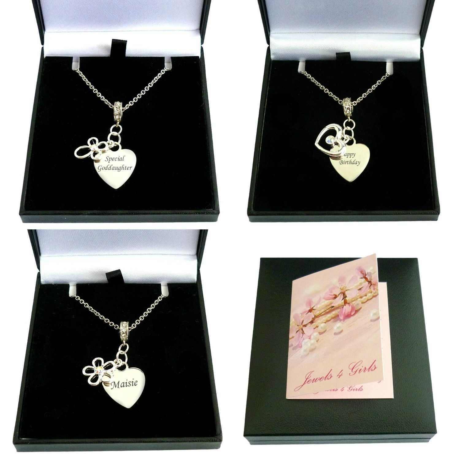 Engraved Memorial Necklace With Cross Heart Or Flower