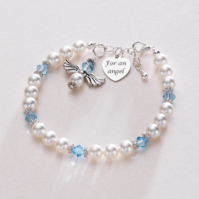 Guardian Angel Birthstone Bracelet Someone Remembered