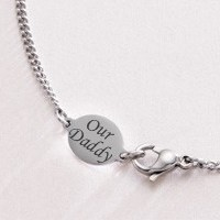 Mans Necklace Chain with Engraving