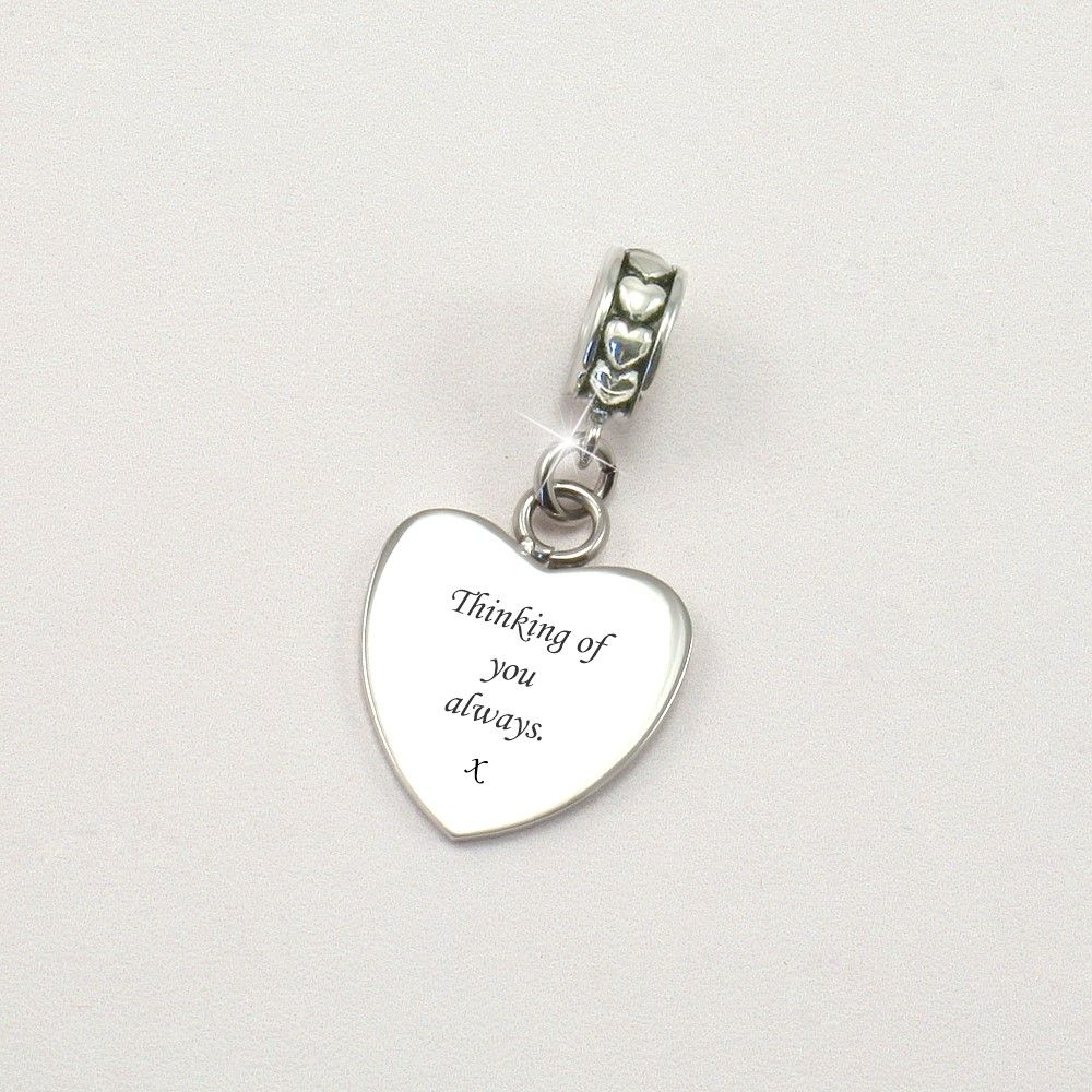 Thinking Of You Always Memorial Charm Someone Remembered