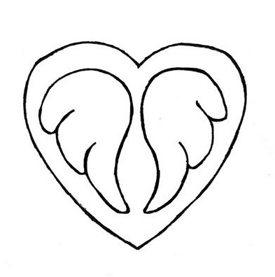 Wings in a heart